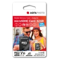 MicroSD карта AGFA PHOTO MicroSDHC 32GB HIGH SPEED  с адаптор за