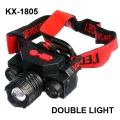 Челник KX-1805 с COB 180lm и XPE 100lm осветяемост до 200 метра,