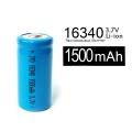 Батерия 16340 1500mAh 3.7V Li-Ion акумулаторна батерия 123А, 123