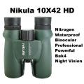 Бинокъл Nikula 10X42 Waterproof BAK-4 призма, голям зрителен ъгъ