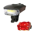 Фенер фар за колело COB 5W и LED и задни светлини с 5 LED и разл