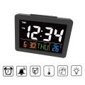 Часовник с цветен дисплей GH2000 с звуков контрол, показва време