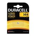 Сребърна батерия DURACELL 364, SR60, D364, SP364, SR621W, V364,
