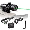 Зелен лазерен прицел, мерник с копче за пускане и спиране 5mW за