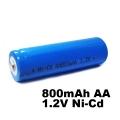 Акумулаторна батерия Ni-Cd AA800mAh 1.2V за соларни лампи, телеф