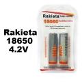 Комплект от 2 броя акумулаторни батерии RAKIETA 18650 12000 mAh