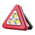 Aвариен соларен триъгълник с фенер HS-8017 с 3 броя COB LED осве
