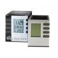 Настолен часовник с календар, термометър, аларма, таймер за обра