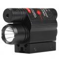 Лазерен прицел червен 5mw с фенер Cree XP-E R5 200 Lumens