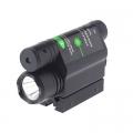 Лазерен прицел зелен 5mW 532nm с фенер Cree XP-E R5 200 Lumens