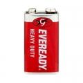 Карбон цинкова батерия Eveready Heavy Duty 9V, 6F22 1 брой в фол