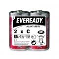 Карбон цинкова батерия Eveready Heavy Duty R14, C 1.5V 2 броя в