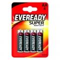 Усилена карбон цинкова батерии Eveready Super Heavy Duty AA, R6