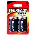 Усилена карбон цинкова батерии Eveready Super Heavy Duty R20, D