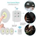 LED лампи 3 броя 3W на батерии с дистанционно за включване и изк
