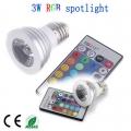 RGB LED 3W цветна светодиодна лампа/крушка с дистанционно управл