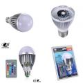 RGB  LED крушка с дистанционно управление 3W Е27