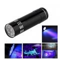 Фенер с UV светлина 9 броя UV/LED Фенер с ултравиолетова светлин