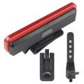 Червена COB светлина за велосипед с четри режима на светене -  с