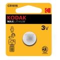 Батерия KODAK MAX LITHIUM CR1616, DL1616, BR1616, 1616 3V Литиев