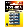 Батерии TOSHIBA High Power Alkaline AA, LR6, MN1500 1.5V