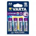 Батерия Varta Professional Lithium AA, LR06 1.5V 4 броя батерии