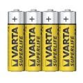 Батерия Varta Superlife AA, R6 1.5V във фолио Цинкови батерии VA