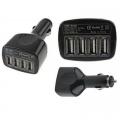 Зарядно от кола 12V с 4 броя USB гнезда