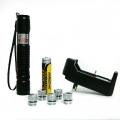 Зелен акумулаторен лазер YG-305 500mW с 5 приставки