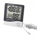 Дигитален термометър и хидрометър HTC-2 за вътрешна и външна тем