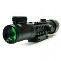 Оптика Бързомерец 2-6X32AOE с чевен и зелен мерник