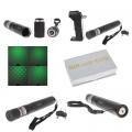 Акумулаторен зелен лазер с 2 вида акумулаторни батерии 18650 и 1