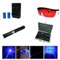 Мощен виолетово син акумулаторен лазер 2000mW YX-012
