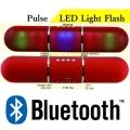 Мини колона с LED светлини, Bluetooth, FM радио, със слот за USB