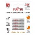 Акумулаторни батерии FUJITSU 800mAh, AAА WHITE Предварително зар
