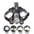 Акумулаторен челник CREE XM-L 3-LED 4-Mode Headlamp