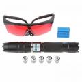 Мощен виолетово син акумулаторен лазер 5000mW YX-014 + Очила за