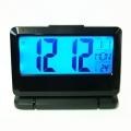 Настолен Електронен часовник с термометър за стая, календар и бу