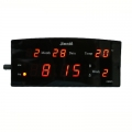 Настолен светещ часовник JINNIU N919-1 показва часа, дата, деня