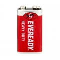Карбон цинкова батерия Eveready Heavy Duty 9V, 6F22 1 брой в фол