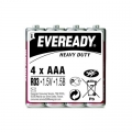 Карбон цинкова батерия Eveready Heavy Duty R03, AAA 1.5V 4 броя