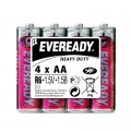 Карбон цинкова батерия Eveready Heavy Duty AA, R6 1.5V 4 броя в