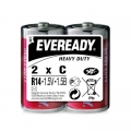 Карбон цинкова батерия Eveready Heavy Duty R14, C 1.5V 2 броя в