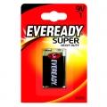 Усилена карбон цинкова батерия Eveready Super Heavy Duty 9V, 6F2