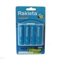 Акумулаторни батерии RAKIETA 2700mAh, AA 1.2V + КУТИЯ ЗА СЪХРАНЕ