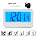 Дигитален часовник 2618 с термометър, календар, аларма, гласов к