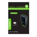 Зарядно устройство 100-240V - 2.4А универсално без кабел с 2 USB