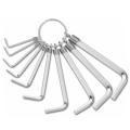 Ключове шестограми комплект от 10 броя размери от 1.5-8мм