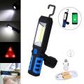 Лампа фенер за къмпинг или кола 3W COB+1 LED FLASHLIGHT Мигаща а