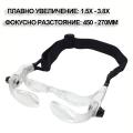 Очила лупа с различни видове увеличения 1.5X, 1.6X, 1.8X, 2.0X,